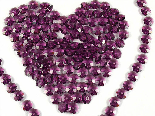 10 pcs Swarovski Elements - Margarita 3700, 6mm, Amethyst Unfoiled, Czech Glass