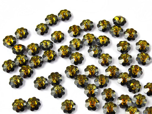 10 pcs Swarovski Elements - Margarita 3700, 6mm, Crystal Tabac M-Foiled, Czech Glass