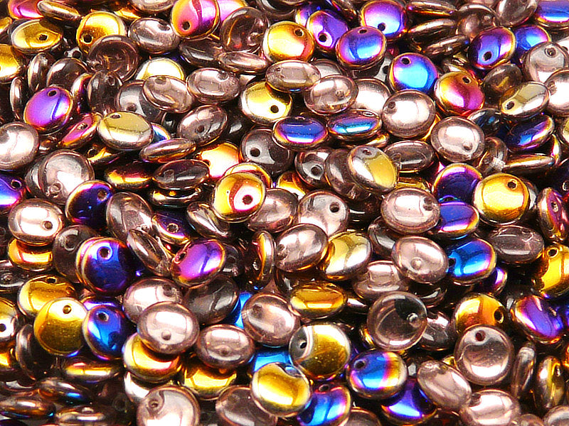50 pcs Lentil Pressed Beads, 6mm, Crystal Sliperit, Czech Glass