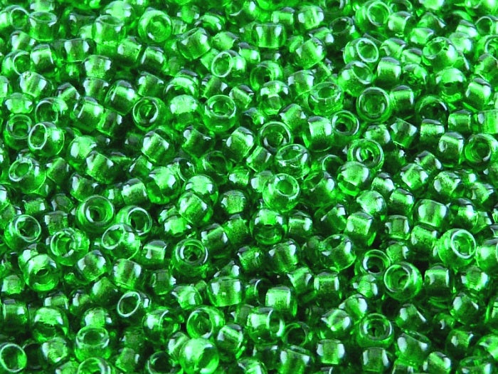 10 g 7/0 Seed Beads MATUBO, Chrysolite, Czech Glass