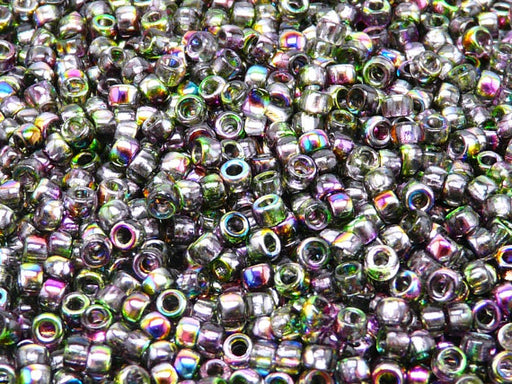 10 g 7/0 Seed Beads MATUBO, Magic Violet Green, Czech Glass