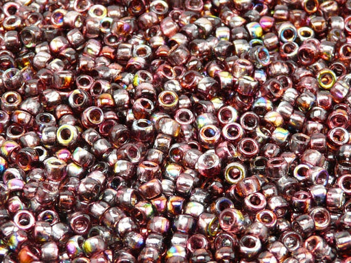 10 g 7/0 Seed Beads MATUBO, Magic Red Brown, Czech Glass