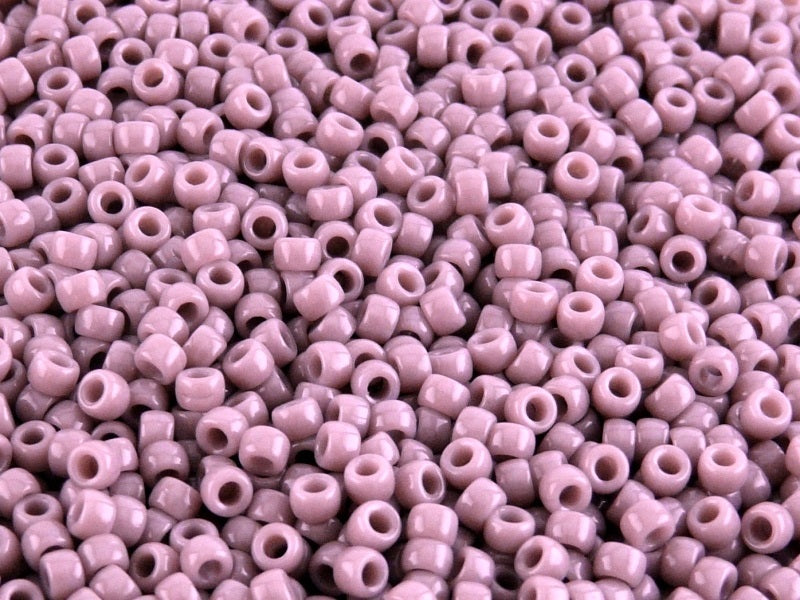 10 g 7/0 Seed Beads MATUBO, Lilac Alabaster, Czech Glass