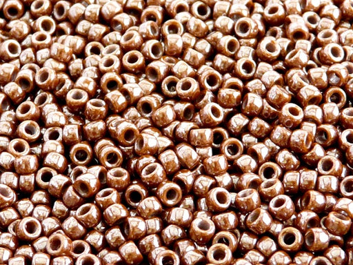 10 g 7/0 Seed Beads MATUBO, Opaque Chocolate White Luster, Czech Glass