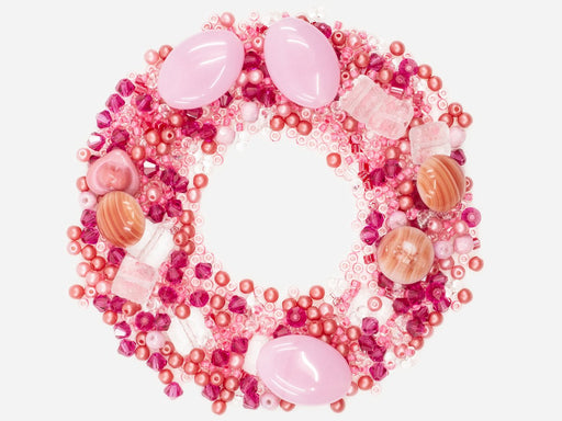 Mix Beads,  Pink Gamma, Czech Glass