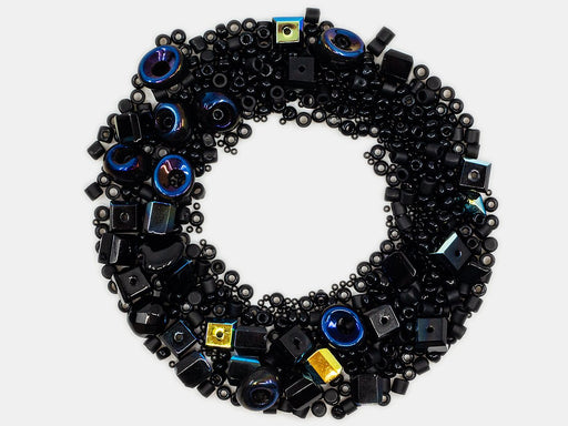 Mix Beads,  Black Gamma, Czech Glass