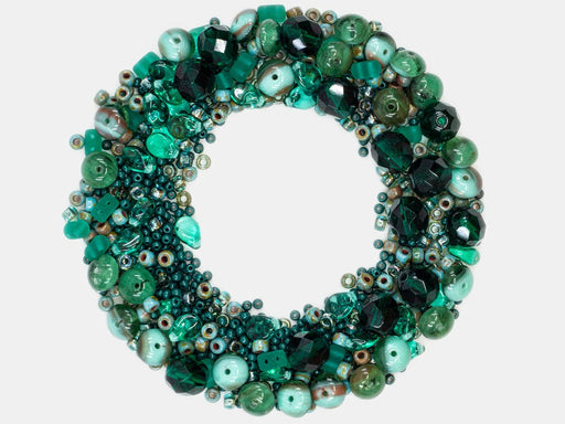 Mix Beads,  Turquoise Gamma, Czech Glass