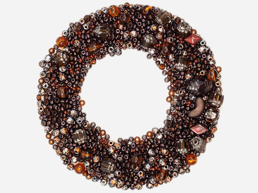 Mix Beads,  Dark Brown Gamma, Czech Glass