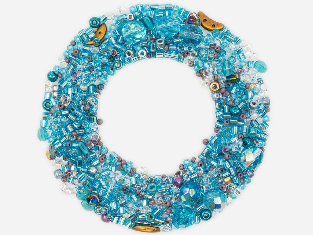 Mix Beads, Crystal Blue Gamma, Czech Glass