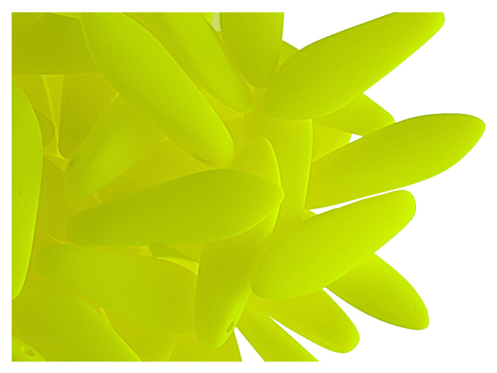 30 pcs Dagger NEON ESTRELA Beads, 5x15mm, Yellow, Czech Glass