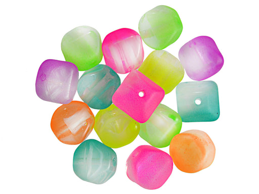 24 pcs Lucerna NEON Beads, 7x8mm, Mix, Czech Glass