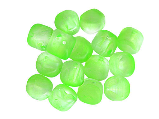 20 pcs Lucerna NEON Beads, 7x8mm, Green, Czech Glass