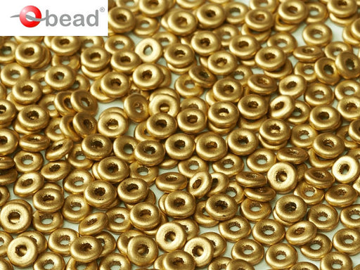 10 g O Bead® Pressed Beads, 1x4mm, Aztec Gold, Czech Glass