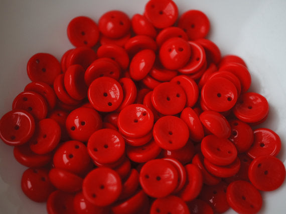 30 pcs 2-hole Piggy Pressed Beads, 4x8mm, Coral Red, Czech Glass