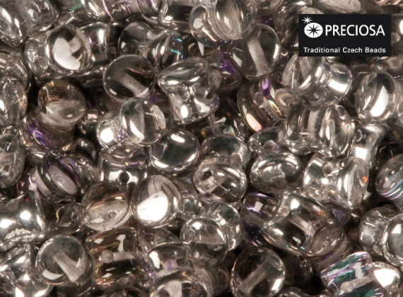 50 pcs Preciosa Pellet™ Beads, 4x6mm, Crystal Vitrail Light, Czech Glass