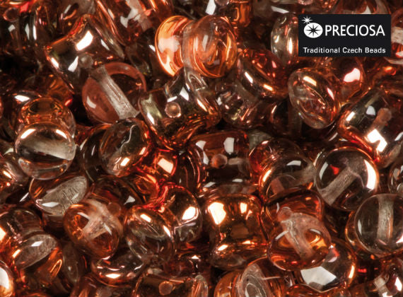 Preciosa Pellet™ Beads, 4x6mm, Crystal Sunset, Czech Glass