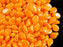 50 pcs Preciosa Pip™ Beads, 7x5mm, Orange Opaque, Czech Glass
