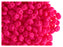 10 g 2-hole SuperDuo Seed Beads, 2.5x5mm, NEON Pink, Czech Glass