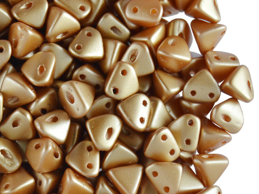 50 pcs Super Khéops® Par Puca® 2-hole Beads, 6mm, Pastel Amber, Czech Glass
