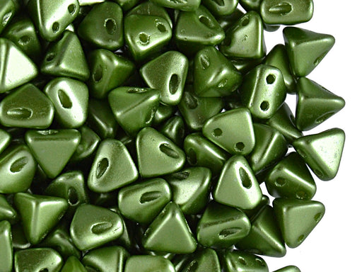 50 pcs Super Khéops® Par Puca® 2-hole Beads, 6mm, Pastel Dark Olivine, Czech Glass