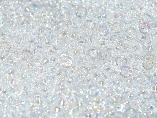 Spacer Beads 2.2x1 mm, Crystal AB, Miyuki Japanese Beads