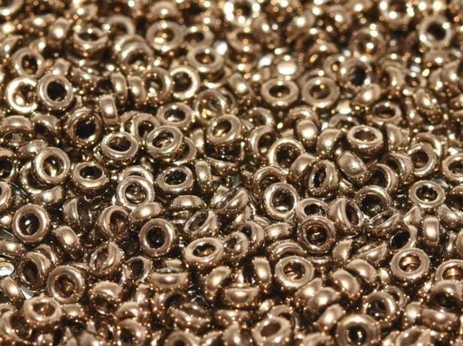Spacer Beads 2.2x1 mm, Metallic Dark Bronze, Miyuki Japanese Beads