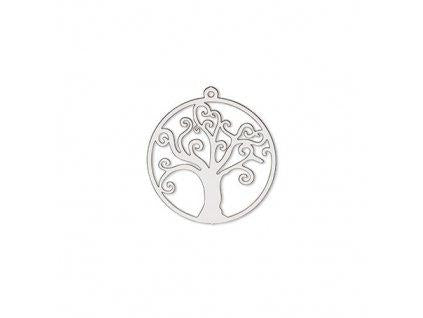 Pendant - tree of life 26 mm, Surgical Stainless Steel, Czech Republic