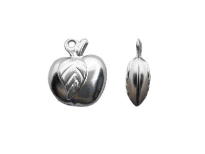 Hollow pendant - apple 13x11x5 mm, Surgical Stainless Steel, Czech Republic