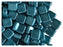 40 pcs 2-hole Tile Pressed Beads, 6x6x3mm, Pastel Emerald, Czech Glass