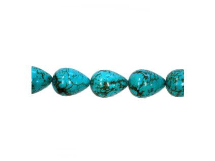 Magnesite dyed turquoise 19x15 mm, Minerals, Czech Republic