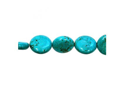 Magnesite dyed turquoise 19 mm, Minerals, Czech Republic