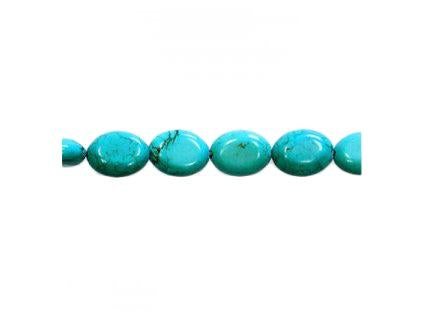 Magnesite dyed turquoise 16x12 mm, Minerals, Czech Republic