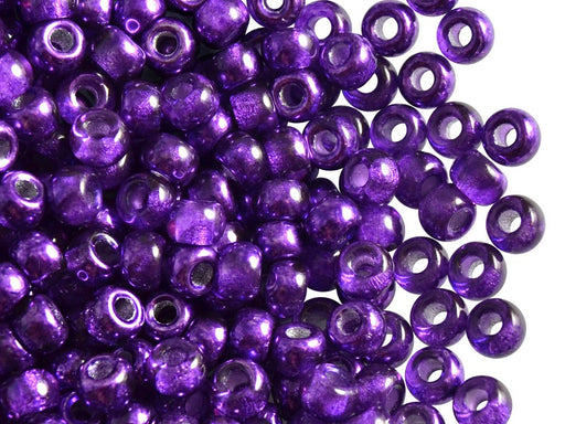 50 pcs Pony Pressed Beads, 2mm Hole, 5.5mm, Semi Apollo Purple, Czech Glass