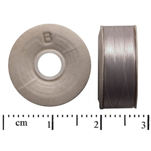 1 pc Nymo Nylon Thread B, 0.2mm (0.008inch) x 66m (72yd), Silver