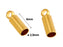 1 pc Round Adhesive Glued End Sleeve 6x2.5mm, Gold Plated