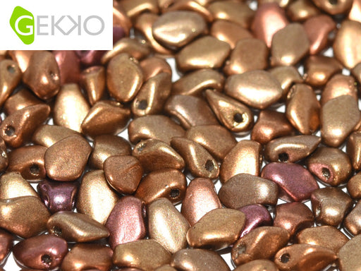 10 g Gekko® Beads, 3x5mm, Metallic Mix, Czech Glass