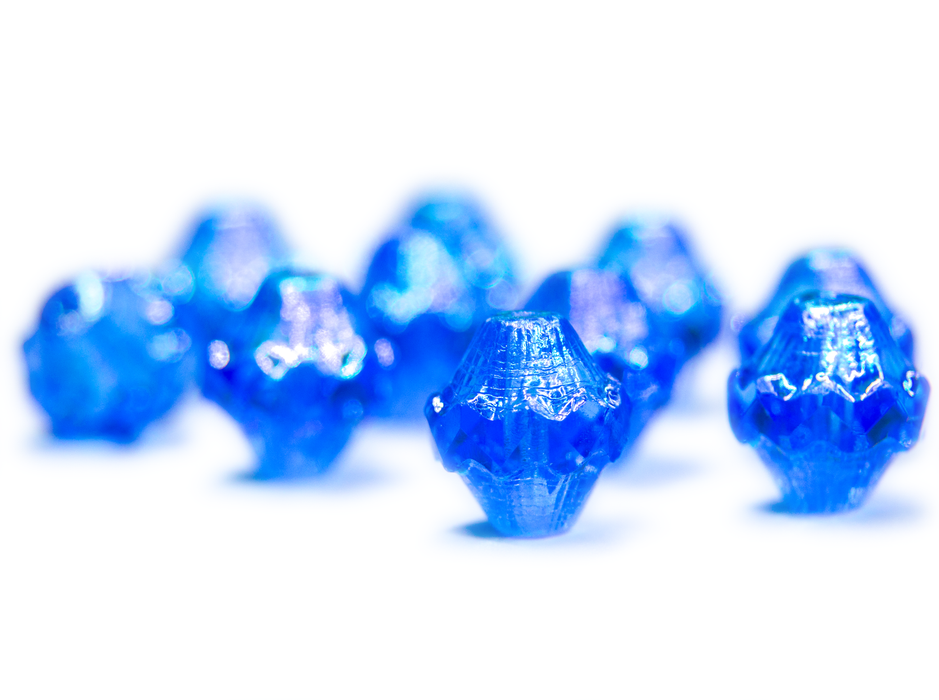 12 pcs Fire Polished Faceted Lantern Baroque Bicone Beads, 11x10mm, Blue Transparent AB Luster, Czech Glass