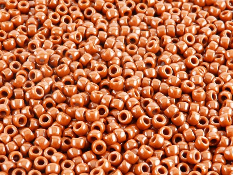 10 g 7/0 Seed Beads MATUBO, Opaque Chocolate, Czech Glass