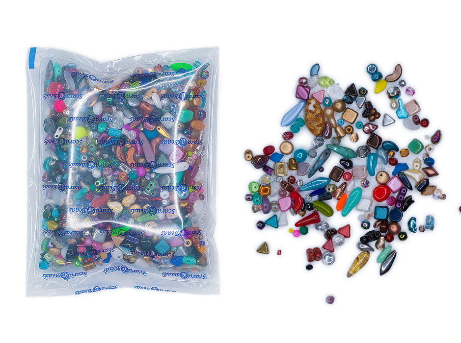 40 g Mix Glass Beads Bad Quality, Different Shapes and Sizes