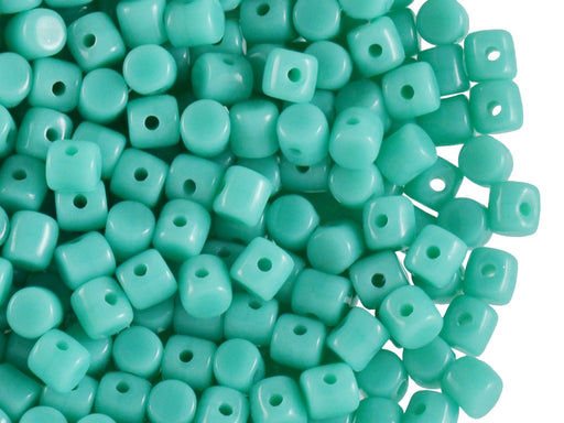 5 g Minos® Par Puca® Beads, 2.5x3mm, Opaque Green Turquoise , Czech Glass