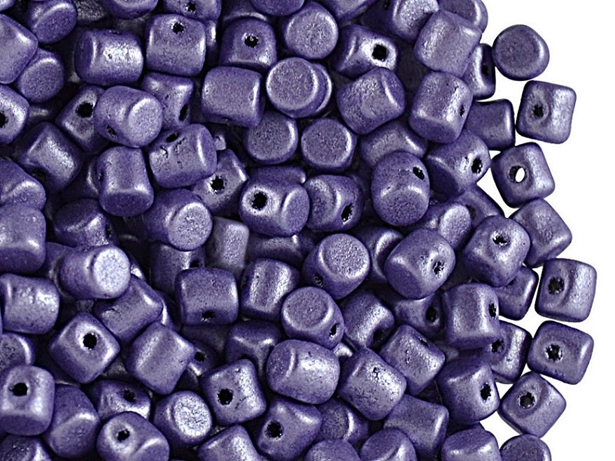 5 g Minos® Par Puca® Beads, 2.5x3mm, Metallic Mat Purple, Czech Glass