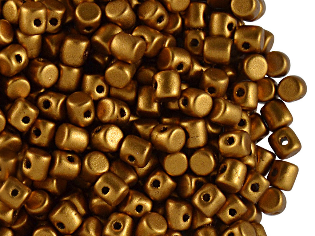 5 g Minos® Par Puca® Beads, 2.5x3mm, Bronze Gold Mat, Czech Glass