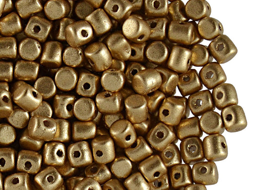 5 g Minos® Par Puca® Beads, 2.5x3mm, Light Gold Mat, Czech Glass