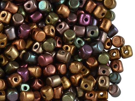 5 g Minos® Par Puca® Beads, 2.5x3mm, Yellow Gold Metallic Iris, Czech Glass
