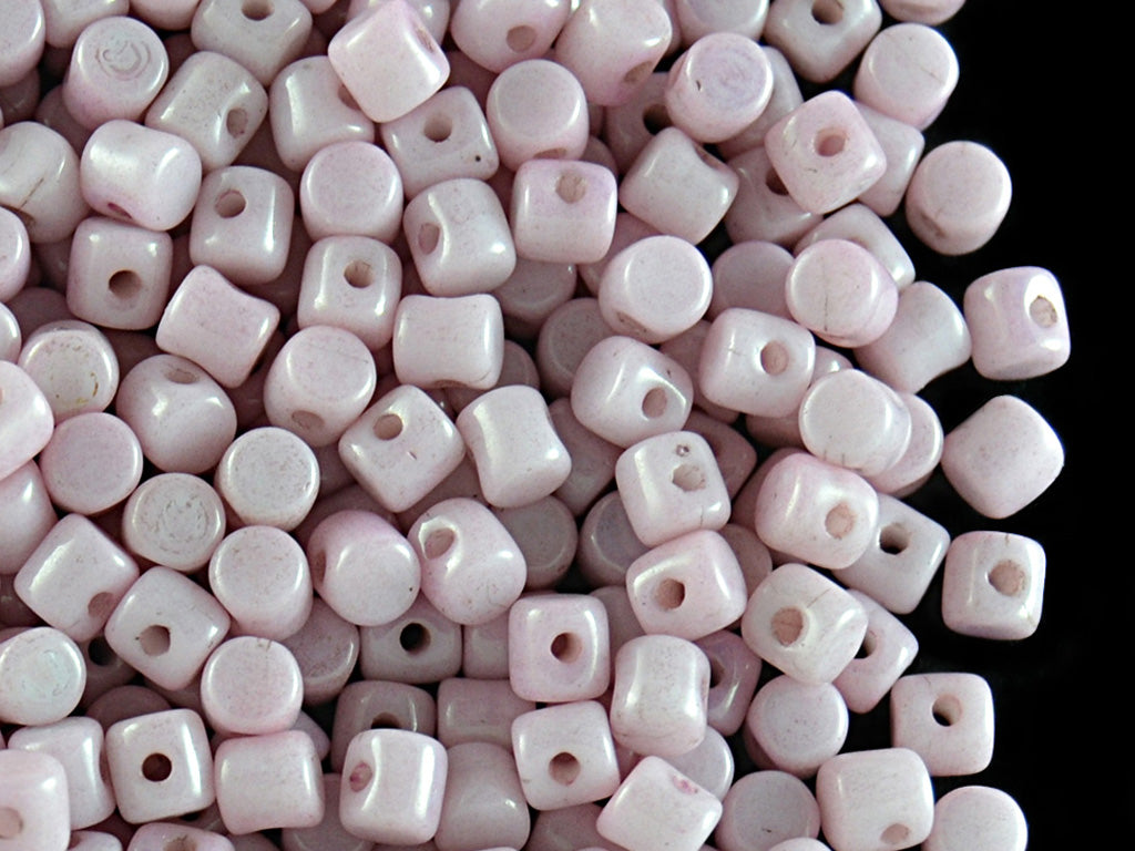 5 g Minos® Par Puca® Beads, 2.5x3mm, Opaque Light Rose Ceramic Look, Czech Glass