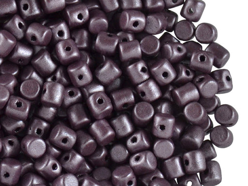 5 g Minos® Par Puca® Beads, 2.5x3mm, Metallic Mat Dark Plum, Czech Glass
