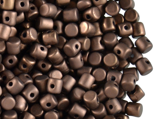 5 g Minos® Par Puca® Beads, 2.5x3mm, Dark Bronze Matte, Czech Glass