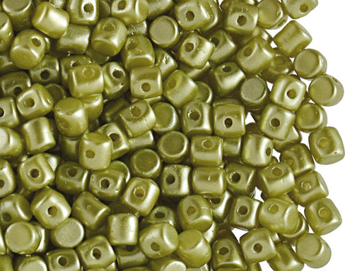 5 g Minos® Par Puca® Beads, 2.5x3mm, Alabaster Pastel Lime, Czech Glass