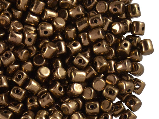 5 g Minos® Par Puca® Beads, 2.5x3mm, Dark Gold Bronze, Czech Glass