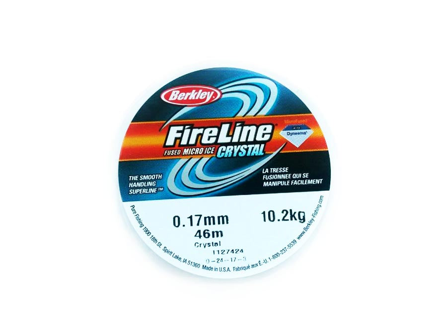 1 pc Berkley Fireline 10.2kg (22Lb), 0.17mm (0.008inch) x 45m (50yd), Crystal Clear